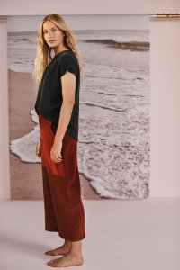 Salice Washable Silk Pants in Sumac