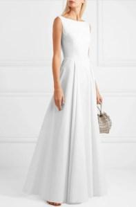 ALAÏA Cotton-gabardine maxi dress