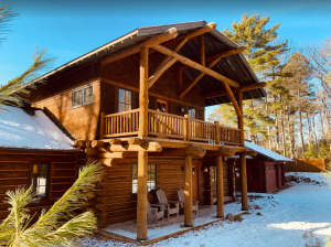 Architect-designed cabin with stunning views and hot tub Hayward WI VRBO rental