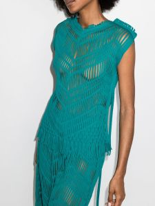 Issey Miyake Netting sleeveless top