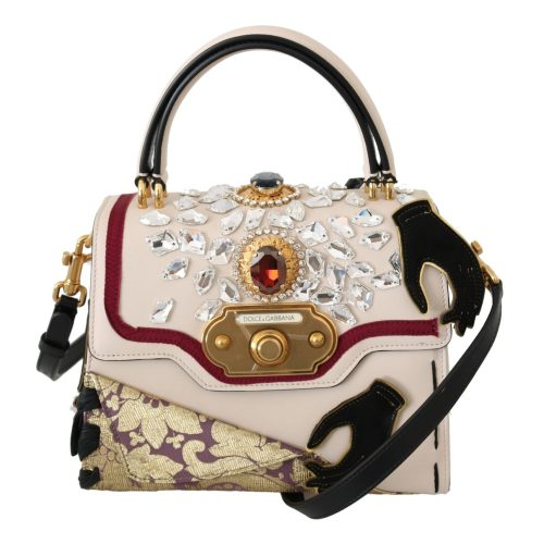 DOLCE & GABBANA Multicolor Leather Crystal Crossbody WELCOME Bag
