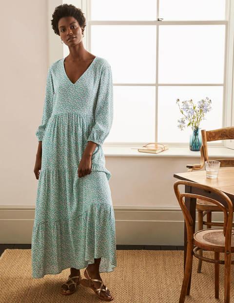 Blouson Sleeve Maxi Dress - Leafy Green, Meadow Spot