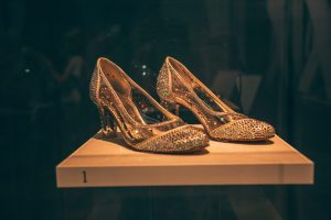 Shoes on display at the Paine Art Center in Oshkosh Wisconsin