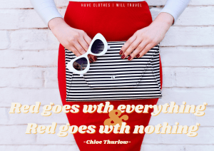 The best red dress quote for Instagram