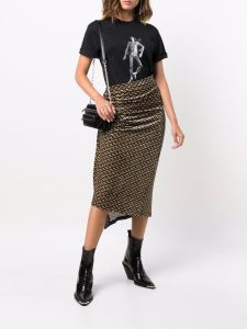 Paco Rabanne gathered pencil skirt