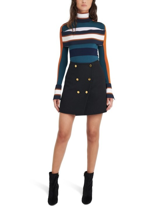 LOUIS VUITTON Striped Turtle Neck Pullover With Band