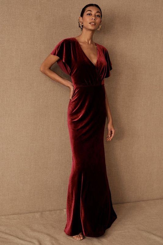 Jenny Yoo Ellis Velvet Dress