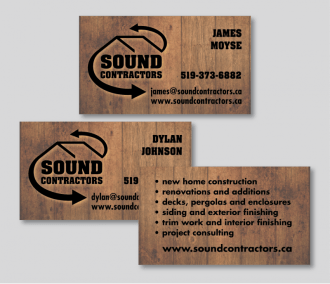 Sound Contracting Business Cards