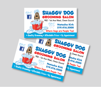 Shaggy Dog Grooming Salon Business Card