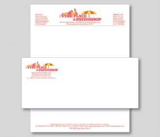 Fyre Place & Patio Shop Letterhead & Envelope