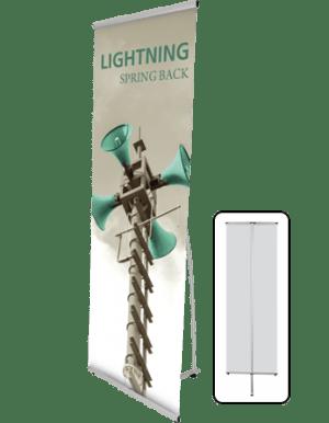 lightning banner stands