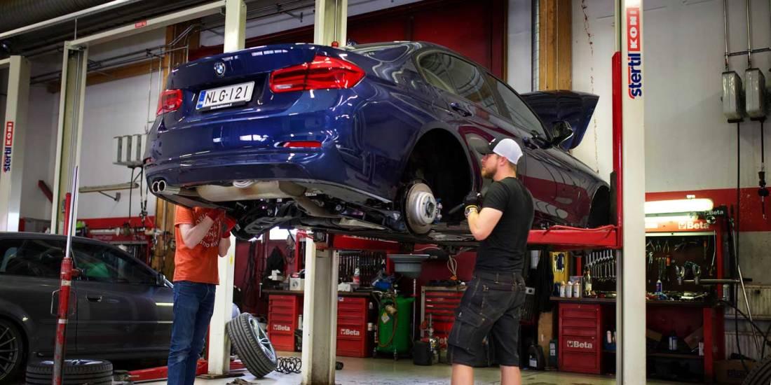 Uuteen BMW:hen vaihdetaan alustasarja.