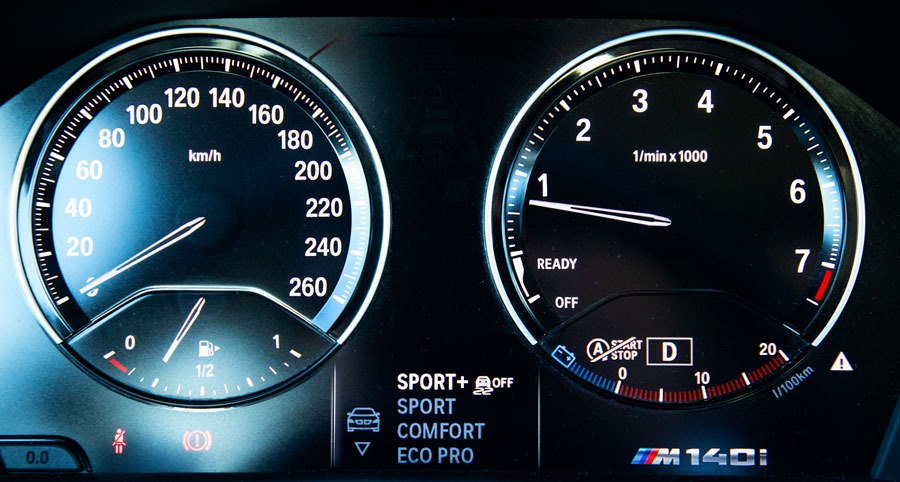 BMW M140i xDrive A – mittaristo