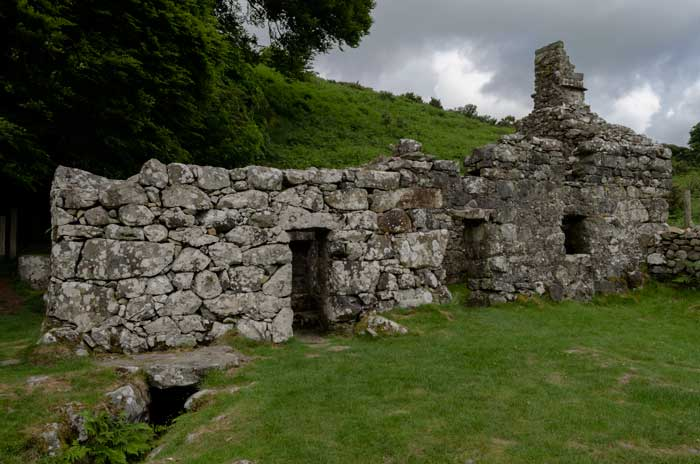 The picturesque ruins of the bath house and cottage at St. Cybi's Well