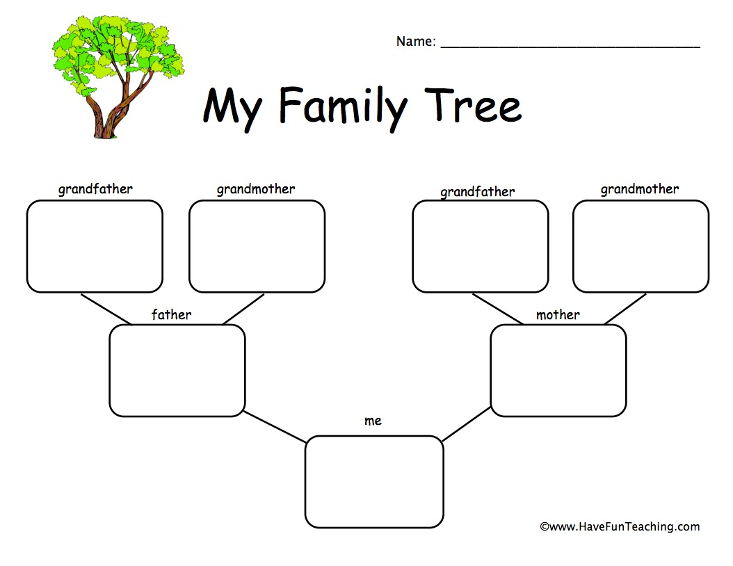 Worksheets Family Tree Worksheet Cheatslist Free Worksheets For Kids Amp Printable