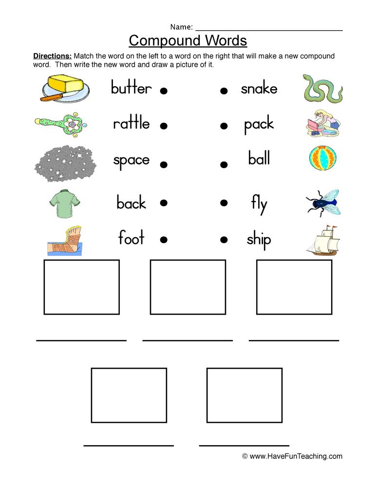 Noun Word List Preschool