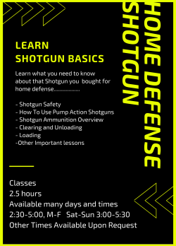 Home Defense Shotgun Mini Course
