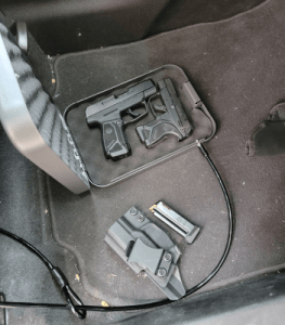 locking your gun in an automobile