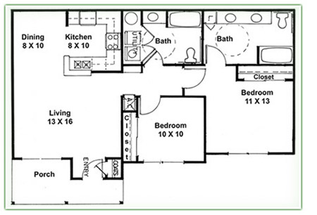 2 bedroom floor plans pdf for Duplex plans for seniors