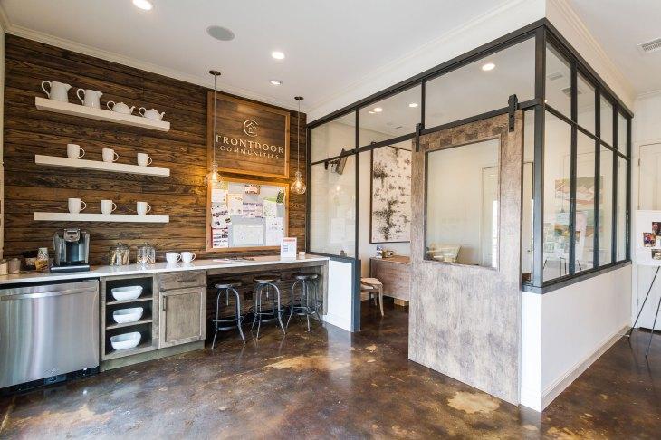 Haven-Design-Works-Atlanta-Front-Door-Shadowbrook-Crossing-Sales-Center-barn-door
