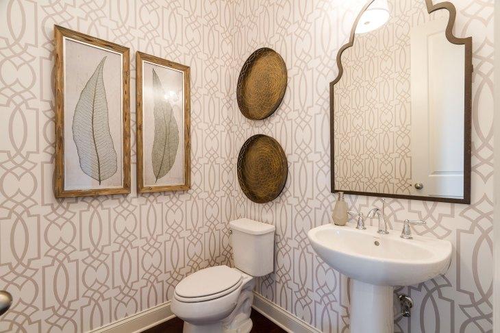 Haven-Design-Works-Atlanta-Front-Door-Shadowbrook-Crossing-powder-room-wallpaper