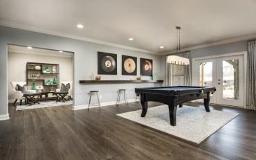 Haven-design-works-Atlanta-CalAtlantic-Atlanta-Briarstone at Nesbit Lakes-model-home-Basement-Pool Table