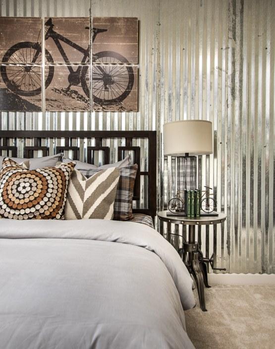 Haven-design-works-Atlanta-Stanley Martin-Atlanta-Inwood-model-home-Tin Wall