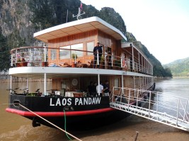 Cruising the Mekong River in Laos