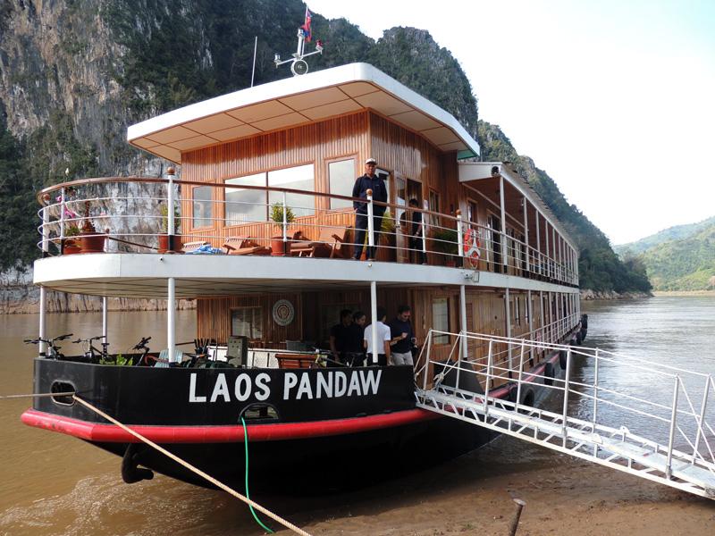 Cruising the Mekong River in Laos