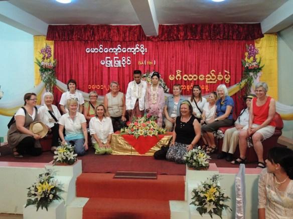 A wedding party at Thayet Myo, Myanmar.