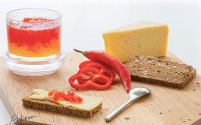 Rød chili- og peber gelé