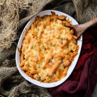 Chicken Sun-Dried Tomato Baked Pasta