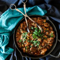 Chicken Hearts and Liver Paprikash