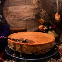 Dulce de Leche Cheesecake with Irish Cream Caramel