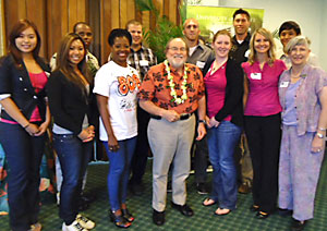 Group of students with Hawaii Governor Neil Abercrombie