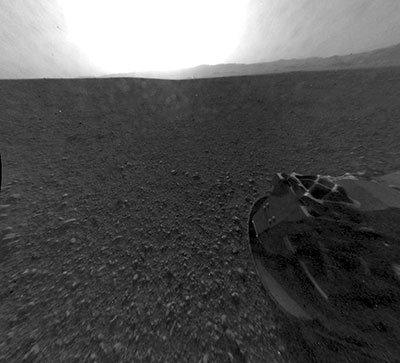 An image of Mars from NASA's Curiosity rover