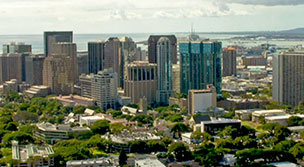 Downtown Honolulu skyline