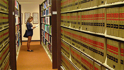 woman in law library