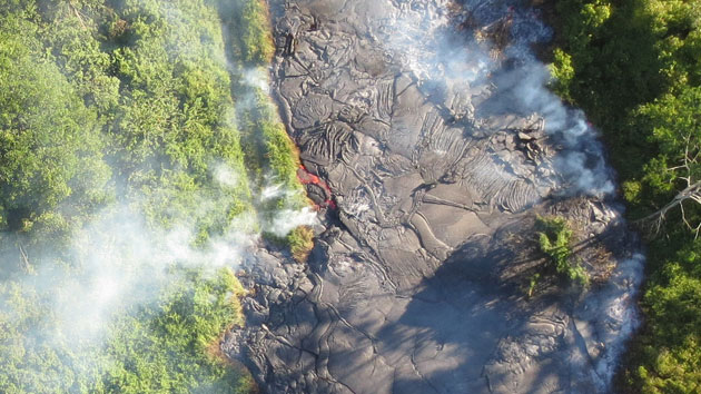 Puna Lava Flow Aerial Imagery Provided By UH Hilo Researchers