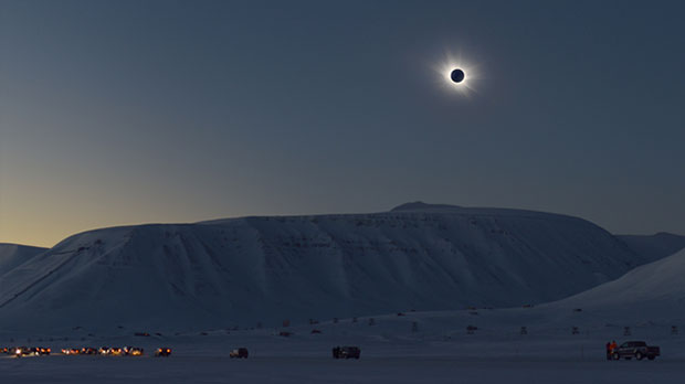 Eclipse over Svalbard