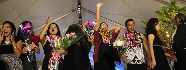 Honolulu Community College student fashion designers.