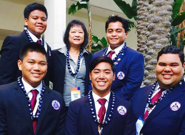 Members of the UH Hilo HOSA Team with advisor Cecilia Mukai