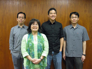 The UH Mānoa Library Occam's Reader team from left to right: Arthur Shum, Naomi Chow, Erin Kim and Wing Leung.