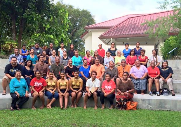 Belau ʻOhana farewell reception for UH Hilo delegation, August 21, 2015, at the Belau National Museum, Palau.