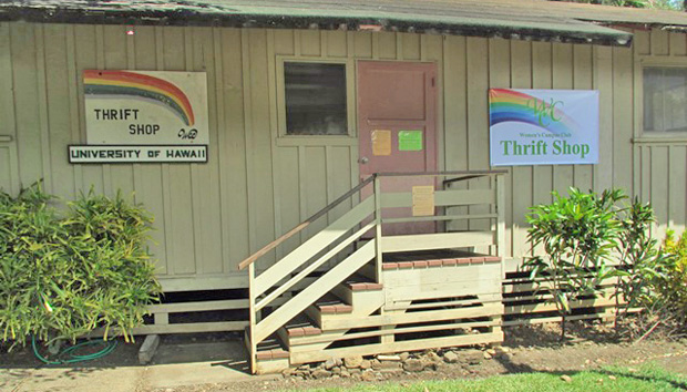 Women's Campus Club Thrift Shop on the University of Hawaiʻi at Mānoa campus