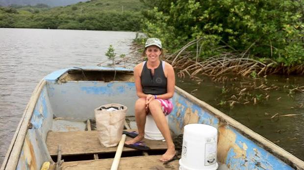 Tognacchini in a boat
