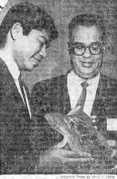 1964 newspaper clipping of award ceremony