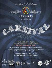 Art and Flea event flyer