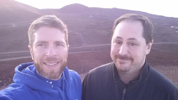 Patrick Smith and Hilo Instructor Alexander Nagurney (right)
