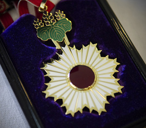 The Order of the Rising Sun, Gold Rays with Neck Ribbon